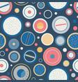 vintage speakers dials seamless pattern vector image