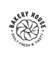 vintage style bakery shop label badge emblem logo vector image vector image