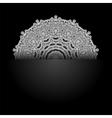White Mandala Round Ornament vector image