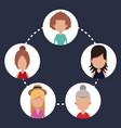 women group community communication vector image vector image