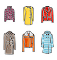 Women coats vector image