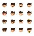 boy emoticons collection Cute kid emoji vector image