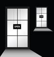 door with open close vector image