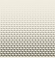 2d geometric two colors triangle halftone pattern vector image vector image