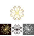 a set of ancient geometric linear figures for vector image vector image