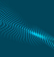 abstract blue tech wavy futuristic background vector image