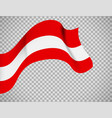 austria flag on transparent background vector image vector image
