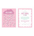 Baby shower invitation template for girl vector image vector image