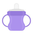 basippy cup isolated on white vector image vector image