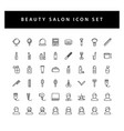 beauty salon icon set with black color outline vector image