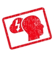 Brainstorming Icon Rubber Stamp vector image