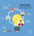 business team working concept vector image vector image