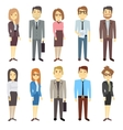 Businessmen businesswomen employee people vector image vector image