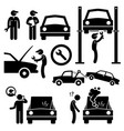 car repair services workshop mechanic stick vector image