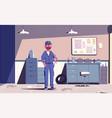 car repair shop cartoon vector image vector image
