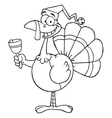 Chistmas turkey cartoon vector image vector image