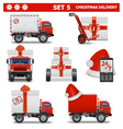 Christmas Delivery Set 5 vector image