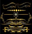 Color Gold Vintage Decorations Elements Flourishes vector image vector image