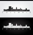 columbia missouri skyline and landmarks vector image vector image