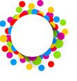 Confetti celebration background vector image vector image