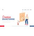 creative brainstorming website landing page vector image