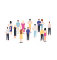 crowd standing back view group people from vector image vector image