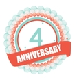 Cute Template 4 Years Anniversary with Balloons vector image vector image