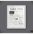 Daily News on generic Tablet PC vector image vector image