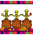 day of the dead 14 vector image vector image