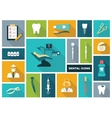 Dental icons vector image vector image