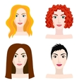 Different types of woman and girl appearance vector image vector image