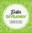easter giveaway banner enter to win vector image vector image