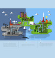 eco islands of green energy vector image vector image