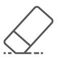 eraser line icon school and education vector image vector image