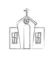 exterior church building icon vector image
