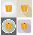 fitness flat icons 06 vector image