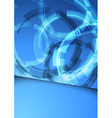 Gear folder blue abstraction vector image vector image