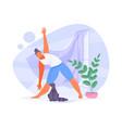 girl doing yoga vector image