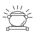 gold coin pot cartoon vector image