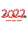 greeting card or poster happy new year 2022 vector image vector image