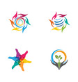 hand care icon template vector image vector image