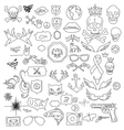 hand drawn doodle design elements vector image vector image