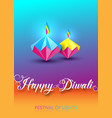 happy diwali celebration in origami style graphic vector image