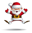 happy santa jumping with open hands vector image vector image