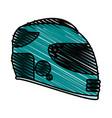 helmet doodle vector image vector image
