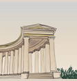 historical architecture colonnade vector image