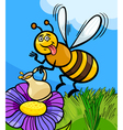 honey bee insect cartoon vector image vector image