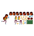 indian girl school kid primary school vector image vector image