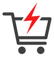 instant shopping flat icon symbol vector image