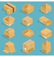 Isometric moving box vector image vector image